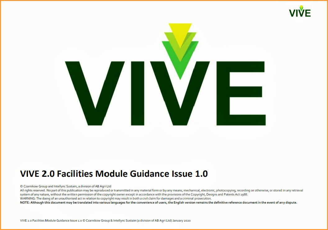VIVE 2.0 Sustainable Supply Programme Published On-Line